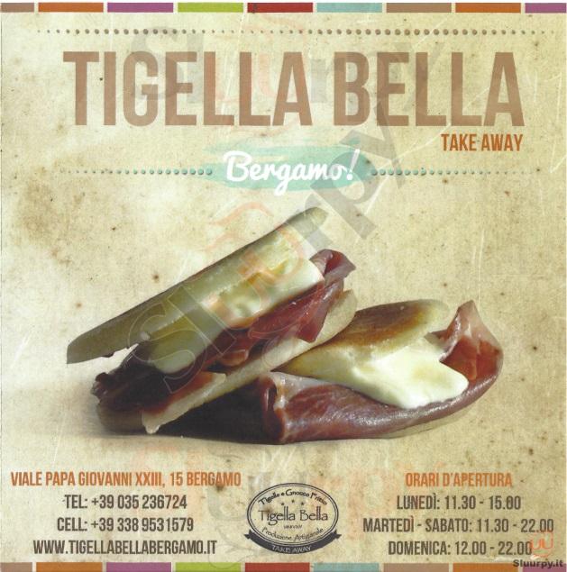 TIGELLA BELLA Bergamo menù 1 pagina