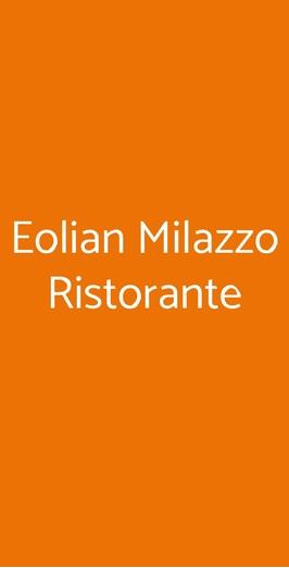 Eolian Milazzo Ristorante, Milazzo
