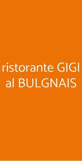 Ristorante Gigi Al Bulgnais, Bologna