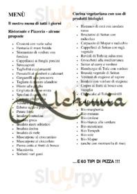 Menu Alchimia Ristorante Pizzeria Bio