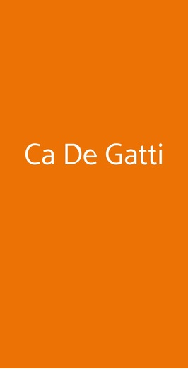 Ca De Gatti, Faenza