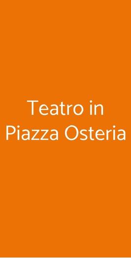 Teatro In Piazza Osteria, Rimini
