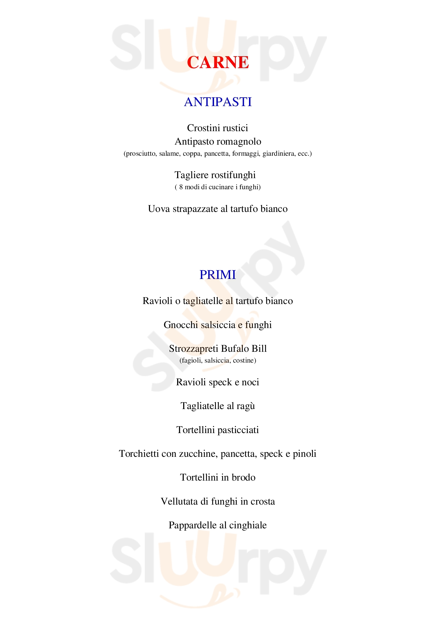 Osteria Tacabanda Riccione menù 1 pagina