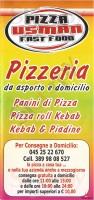 Menu PIZZA USMAN, Via Legnago
