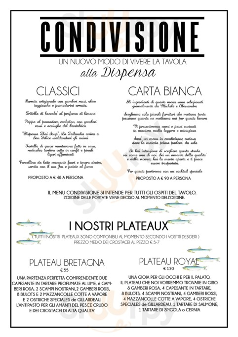 Menu La Dispensa