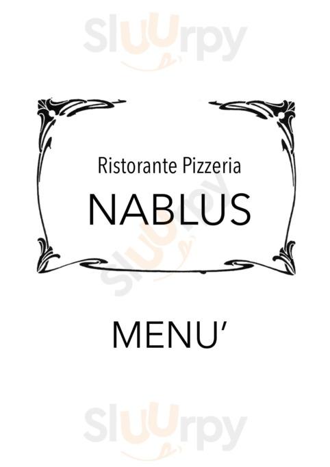 Menu Ristorante Pizzeria Nablus