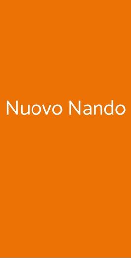 Menu Nuovo Nando