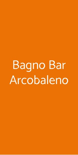 Bagno Bar Arcobaleno, Ravenna