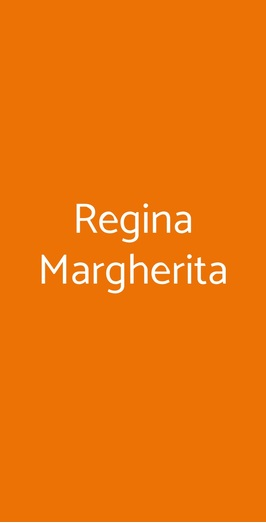 Menu Regina Margherita