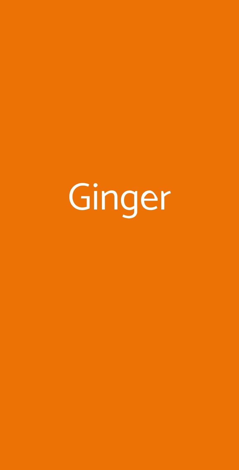 Ginger Modena menù 1 pagina