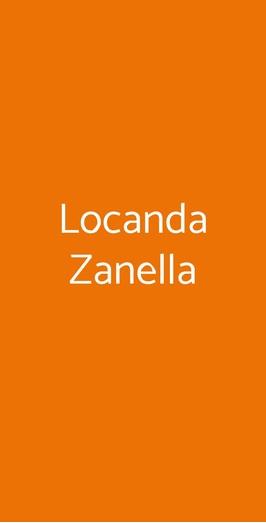 Menu Locanda Zanella