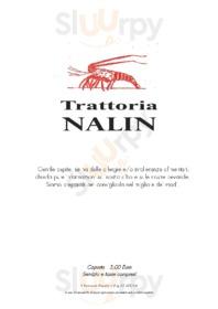 Menu Trattoria Nalin