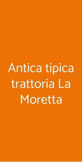 Antica Tipica Trattoria La Moretta, Ancona