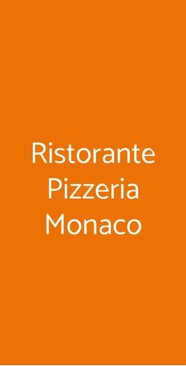 Menu Ristorante Pizzeria Monaco