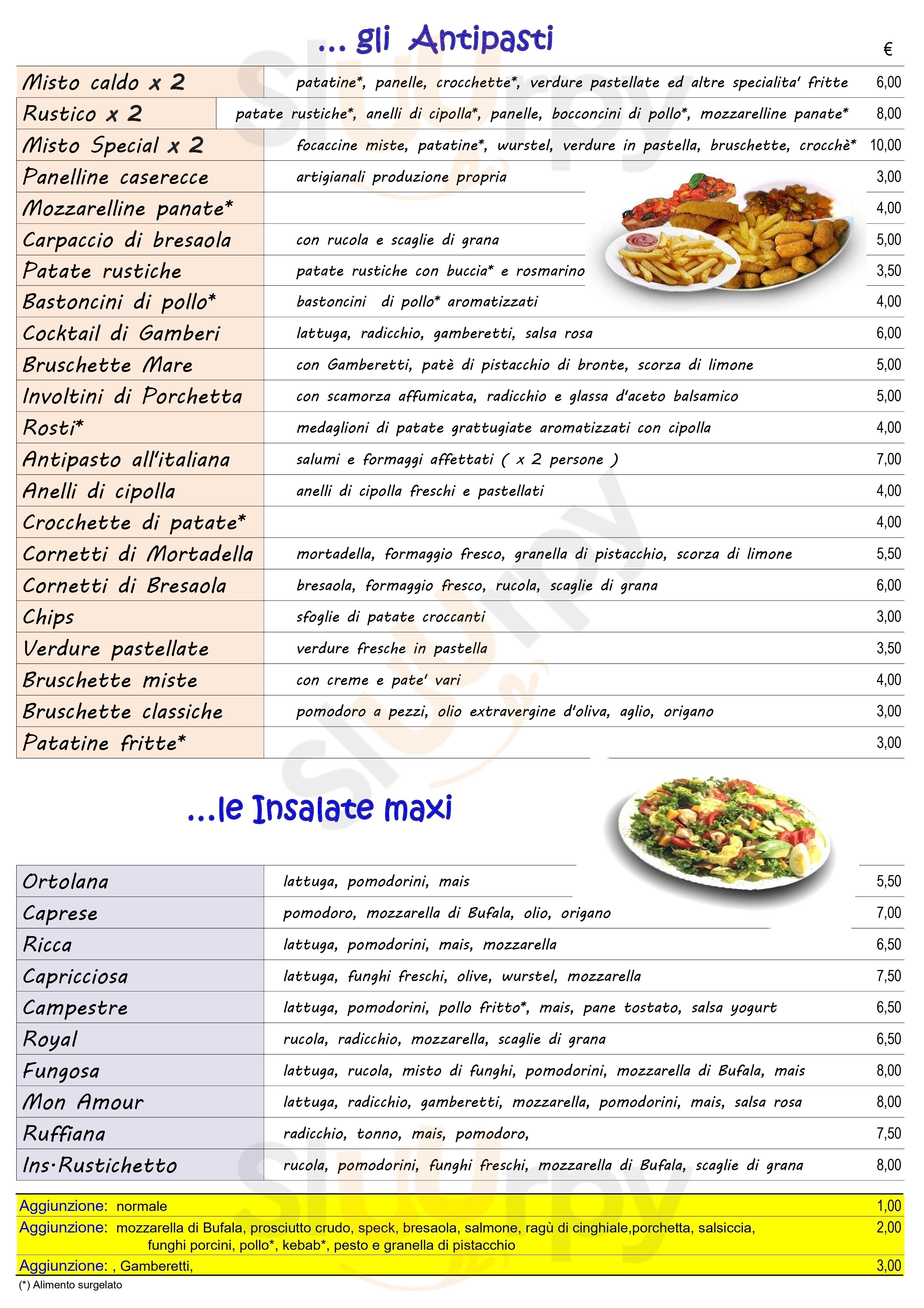 Il Rustichetto Palermo menù 1 pagina