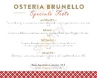 Menu Osteria Brunello