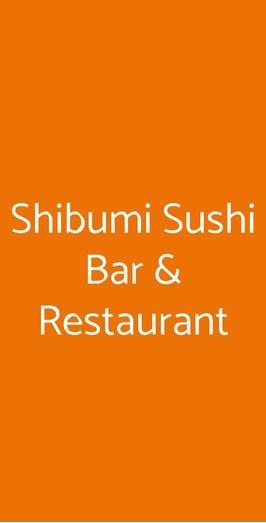 Shibumi Sushi Bar & Restaurant, Potenza
