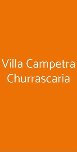 Villa Campetra Churrascaria, Reggio Calabria