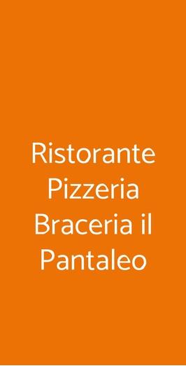 Ristorante Pizzeria Braceria Il Pantaleo, Quarto