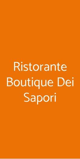Ristorante Boutique Dei Sapori, Salerno