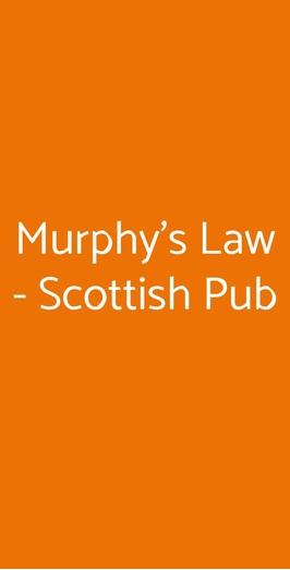 Murphy's Law - Scottish Pub, Napoli