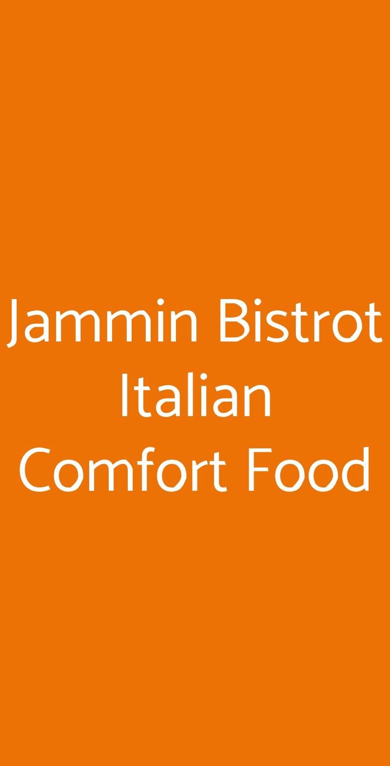 Jammin Bistrot Italian Comfort Food Napoli menù 1 pagina