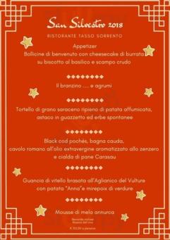 Menu Ristorante Pizzeria Tasso