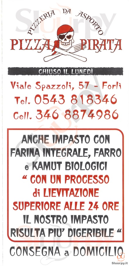 PIZZA PIRATA Forlì menù 1 pagina