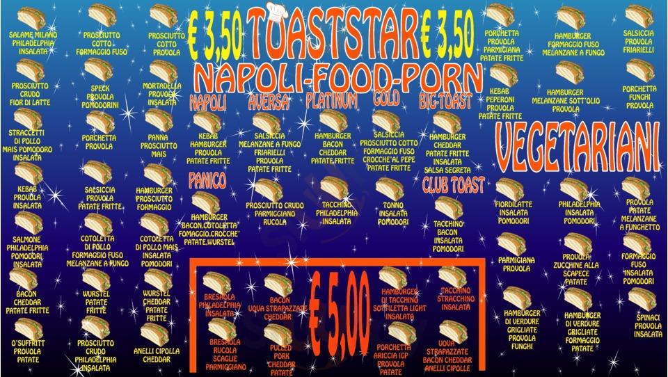 Menu Toaststar toasteria takeaway