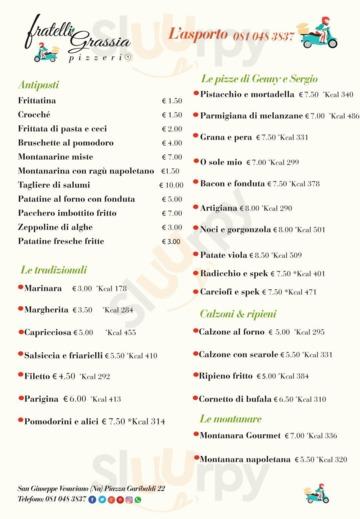 Menu Pizzeria Fratelli Grassia