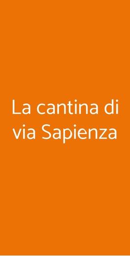 La Cantina Di Via Sapienza, Napoli