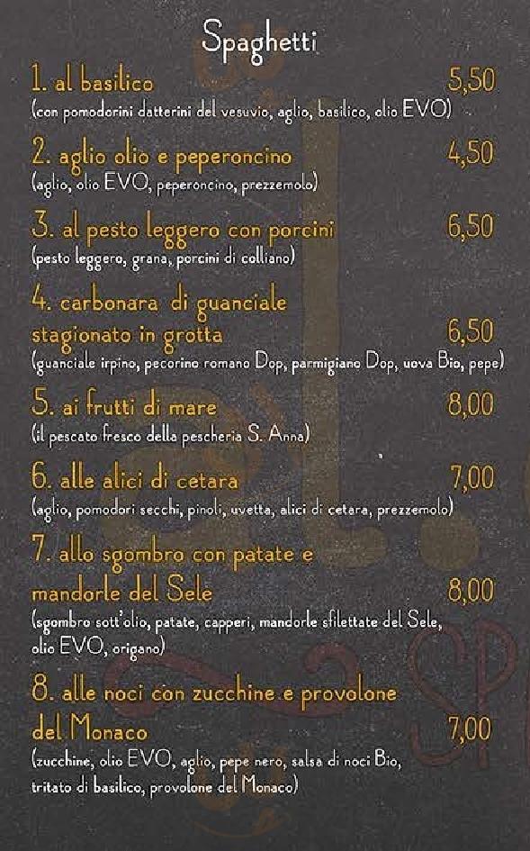 Al Dente Spaghetteria Salerno menù 1 pagina