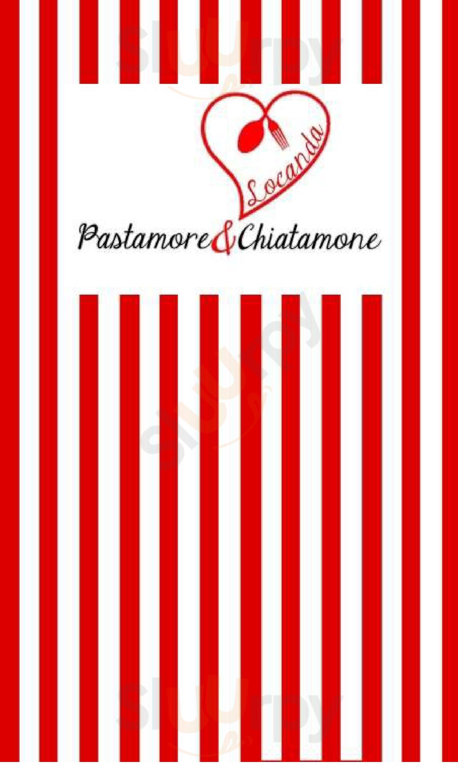 Pastamore&Chiatamone Napoli menù 1 pagina