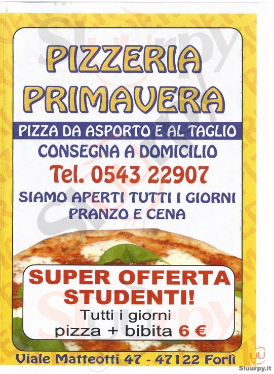 PRIMAVERA Forlì menù 1 pagina