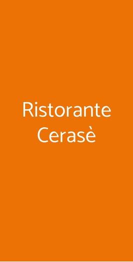 Ristorante Cerasè, Vico Equense