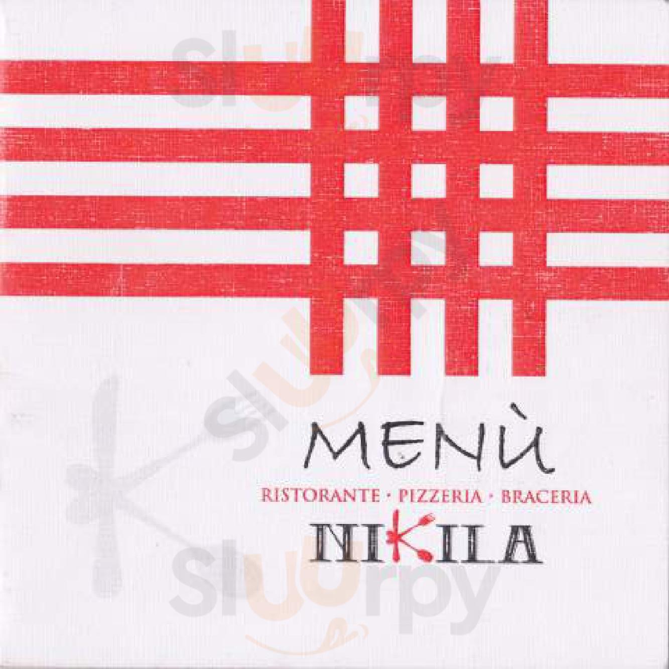 Nikila Ristorante Pizzeria Bracieria Benevento menù 1 pagina