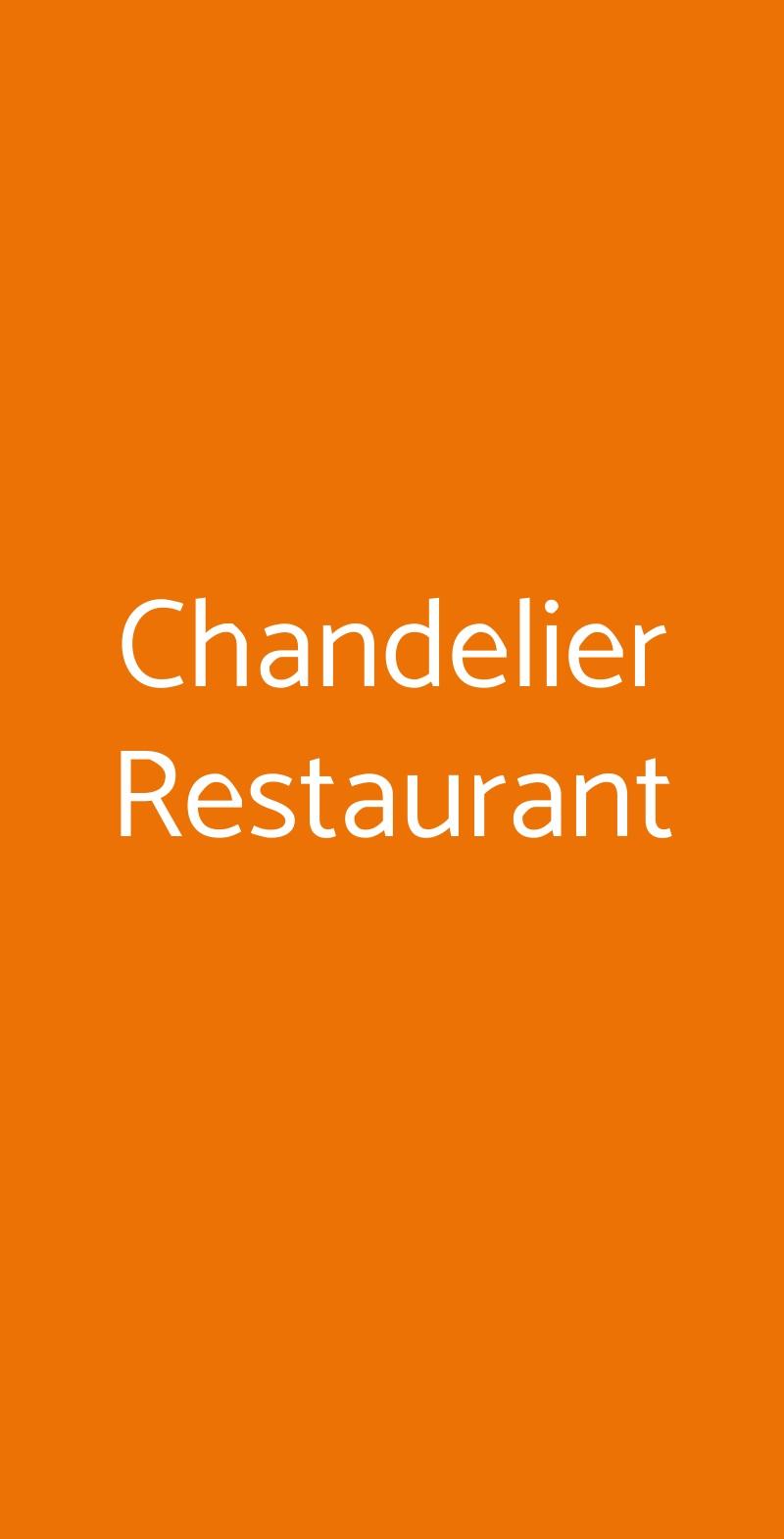 Chandelier Restaurant Napoli menù 1 pagina