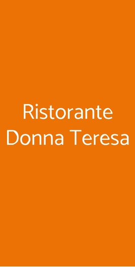 Ristorante Donna Teresa, Centola