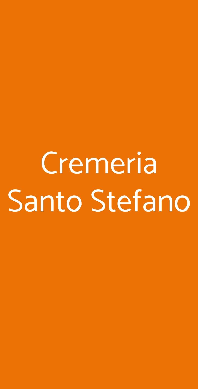 Cremeria Santo Stefano Bologna menù 1 pagina