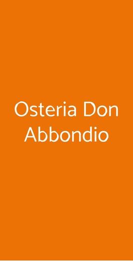 Osteria Don Abbondio, Forli