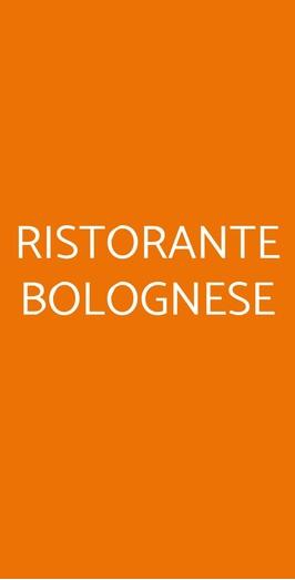 Ristorante Bolognese, Bologna