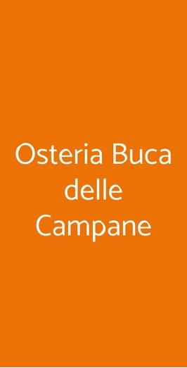 Osteria Buca Delle Campane, Bologna
