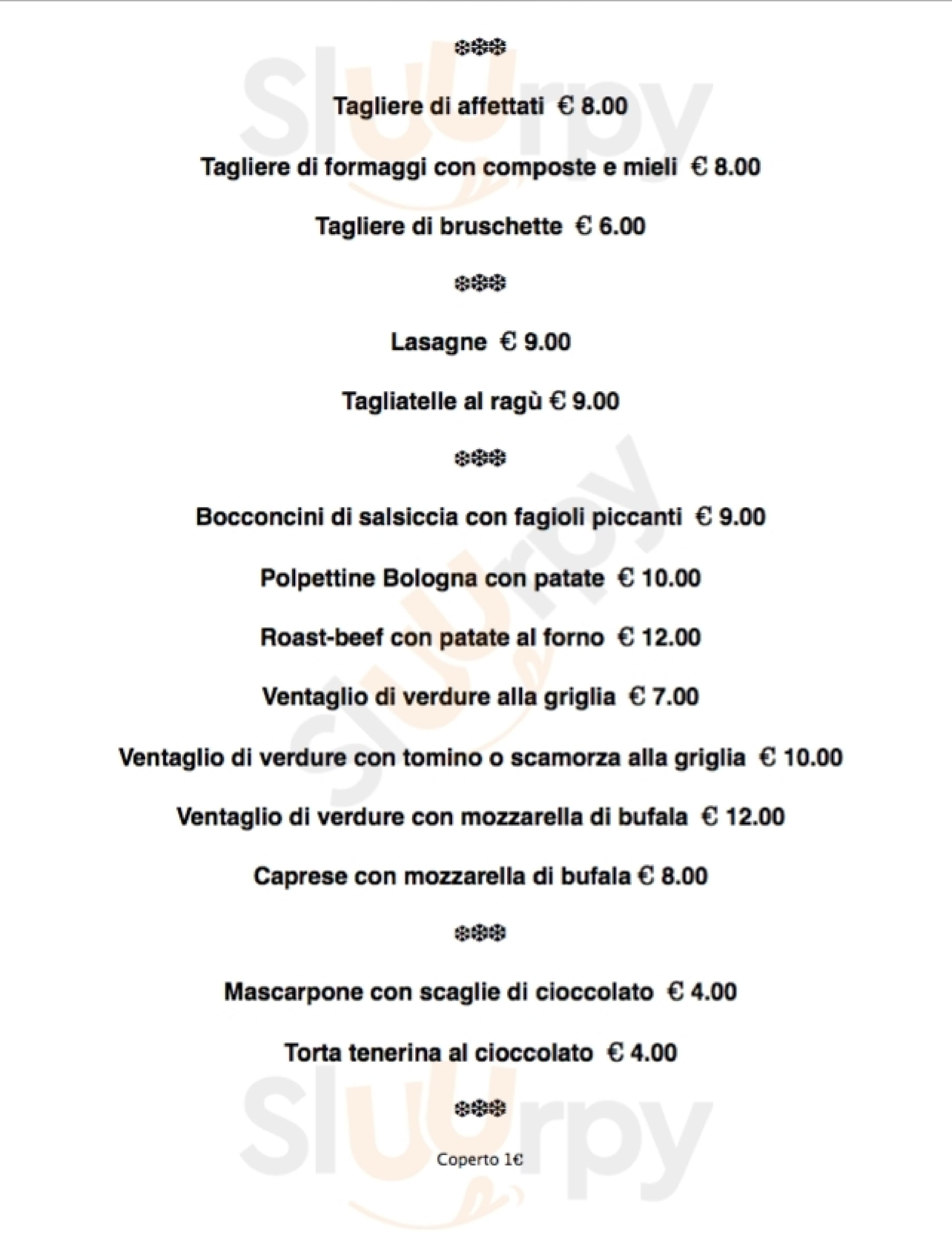 Va Mo Là Bologna menù 1 pagina