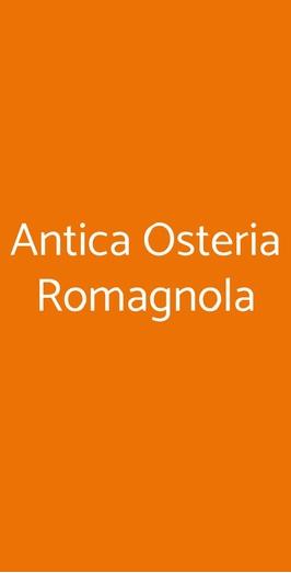 Antica Osteria Romagnola, Bologna