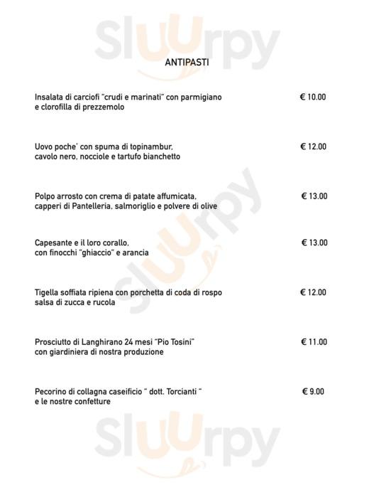 Menu Prospero Modena
