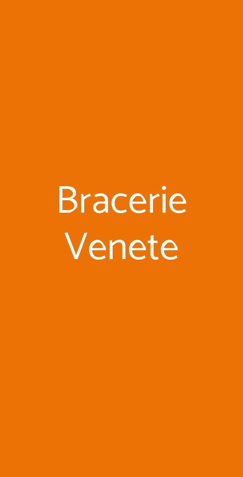Bracerie Venete Trieste menù 1 pagina