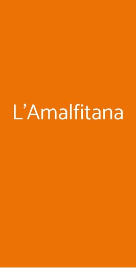 L'amalfitana, Bologna