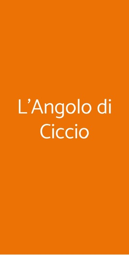 L'angolo Di Ciccio, Rimini