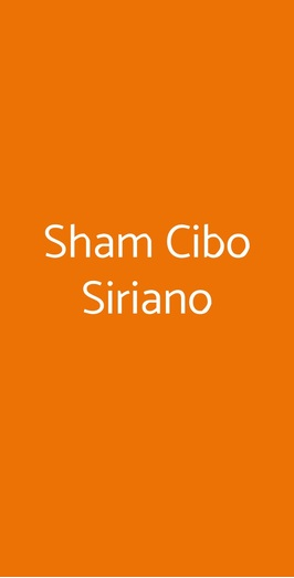 Sham Cibo Siriano, Bologna