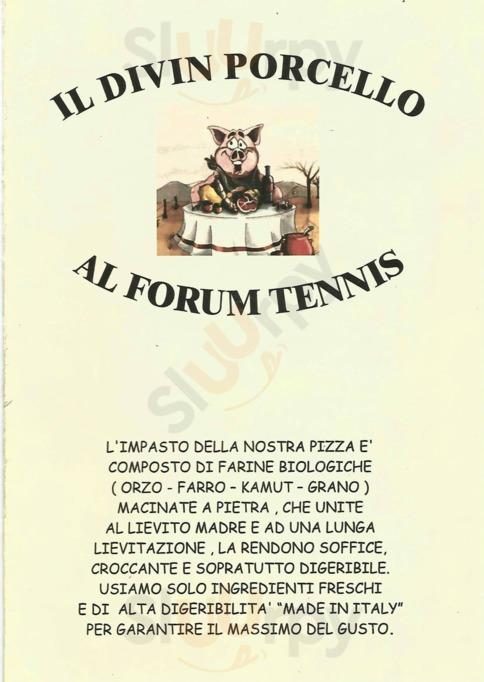 Menu Forum Tennis Ristorante Pizzeria
